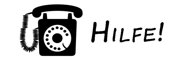 Hilfetelefone, anonyme und kostenlose Hotlines und Online-Hilfen